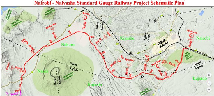 Kenya Railways – Route Description of the Nairobi – Naivasha Section (Phase 2) of the Standard Gauge Railway line