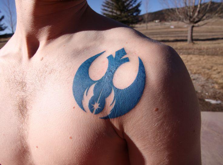 rebel alliance with jedi order emblem tattoo