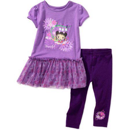 Nickelodeon - Baby Girls' Ni Hao Kai Lan Tunic and Leggings Set, Purple