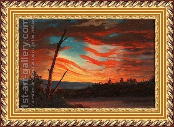 Our Banner In The Sky Painting By Frederic Edwin Church Reproduction 1st Art Gallery In 2020 Sky Painting Painting Art