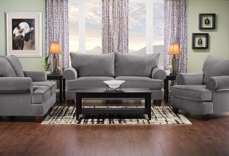 Kick back and cozy up to the softness of this Paige sofa bed. Covered in plush grey microsuede, you'll quickly relax into the deep seating. A resilient seat support system is the foundation for the foam and fibre cushion blend, giving you a long-lasting, comfortable family space. Plus, the thick cushions can be removed to reveal a full-size sofa bed, perfect for last minute guests and child sleepovers.