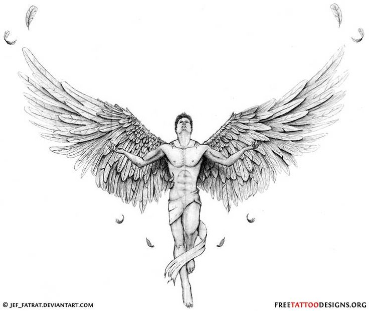 Small Guardian Angel Tattoo Designs | Pin Free Guardian Angel Tattoos Designs Tattoo on Pinterest                                                                                                                                                                                 Más