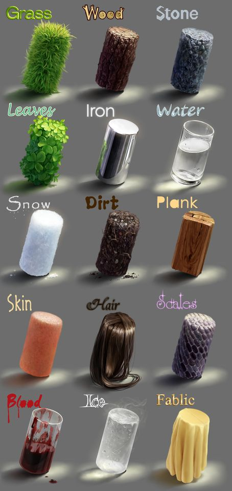Vegetables, minerals, bodies, hair... everything has its own texture and you can feel it. From soft things to hard things, illustrations try to represent these textures. Check out these tutorials about textures!