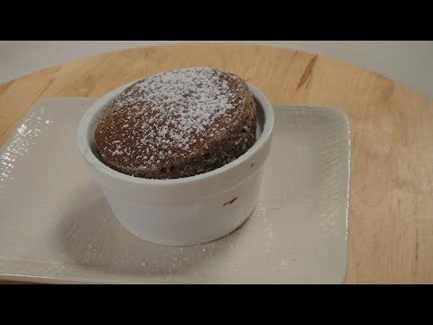 Hot Chocolate Souffle | Vegetarian Video Recipe by chef Sanjeev Kapoor.