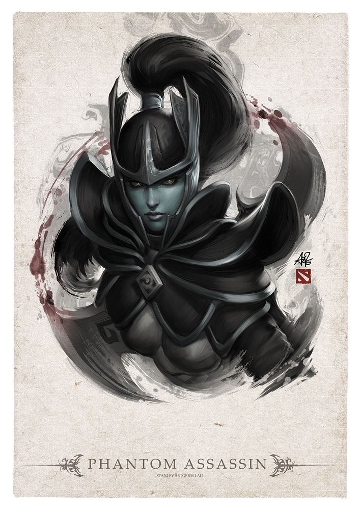 Phantom Assassin Portrait by Artgerm on deviantART------  dayum!