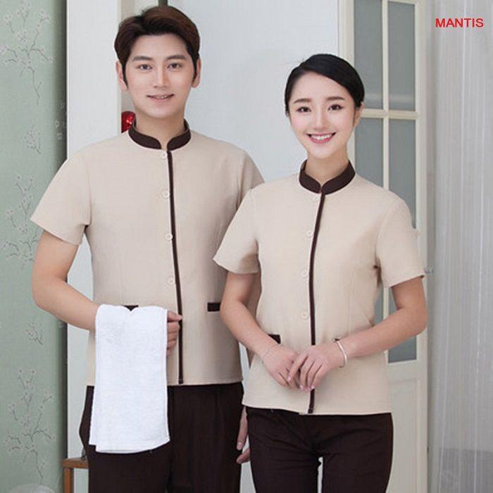 Mẫu đồng phục nhân viên buồng phòng khách sạn, resort cao cấp của Công ty may đồng phục Mantis. Đồng phục buồng phòng khách sạn đẹp nhất