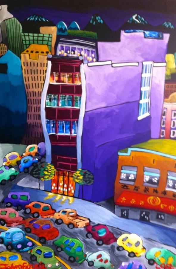 """The Keefer,  48"""" x 72"""", acrylic on canvas, 2012"""