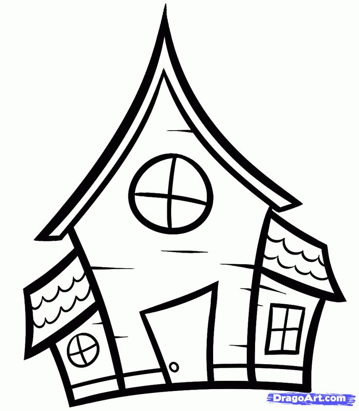 how to draw a haunted house for kids step 5
