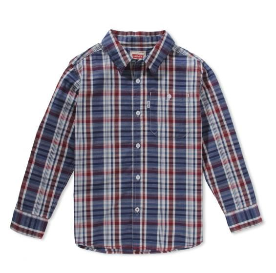 Small Checkered Cunningham One Pocket Shirt from Levis available only at kapkids.in