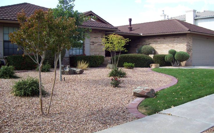 Front yard xeriscape ideas residential landscape for Residential landscaping ideas