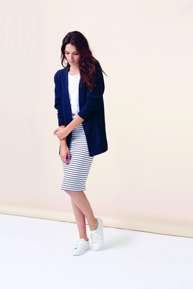soyaconcept - cardigan - jakke - blazer - blouse - t-shirt - skirt - stripe - maritim