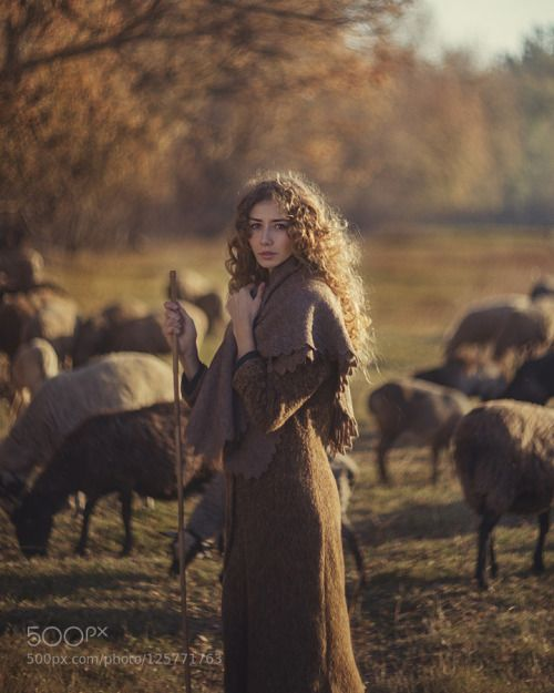 morethanphotography:  girl and sheep retro,  shepherd by David-foto