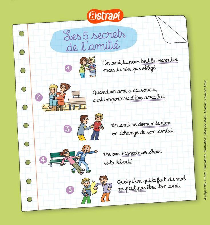 Les 5 secrets de l'amitié #fle #authres #french