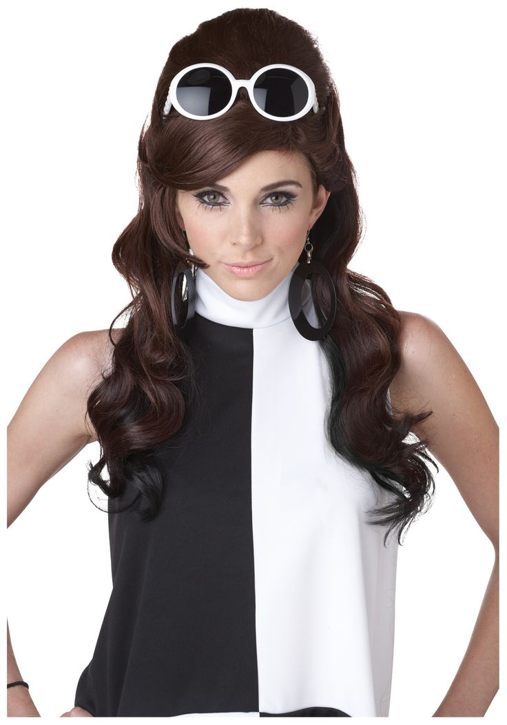 Mod Girl 60s Ladies Wig - Womens 60s Costume Accessories