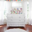White Crib Bumper | Solid White Crib Bedding Bumper | Carousel Designs