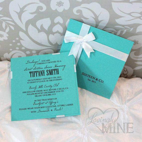 Sweet Sixteen Tiffany  Co Inspired Invitations  by LovinglyMine, $18.00