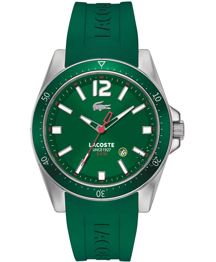 LACOSTE Seattle Green Rubber Strap Η τιμή μας: 119€ http://www.oroloi.gr/product_info.php?products_id=35412