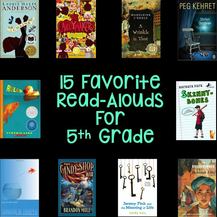 15 Favorite Read Aloud Books for 5th Grade- Hello Learning Blog