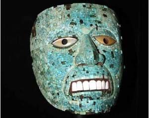 Mexican prehispanic mask
