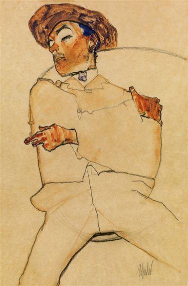 Egon Schiele - Sleeping Man, 1910