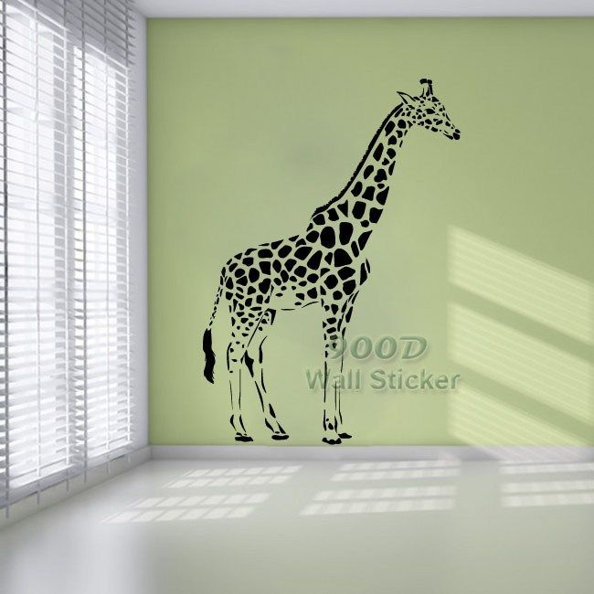 giraffe wall sticker diy home decoration removable wall decor wall giraffe wall sticker contemporary wall stickers