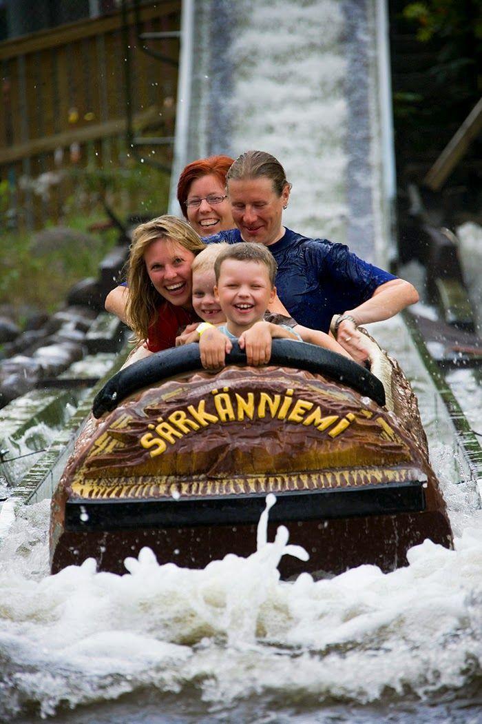 Tukkijoessa! Rapids Ride @ Särkänniemi Adventure Park #sarkanniemi #tampere visit: http://www.sarkanniemi.fi