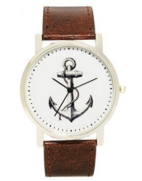 Anchor print watch