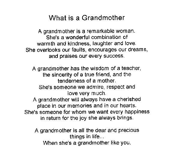 grandma poems | Grandmothers' Day - ESL Resources: