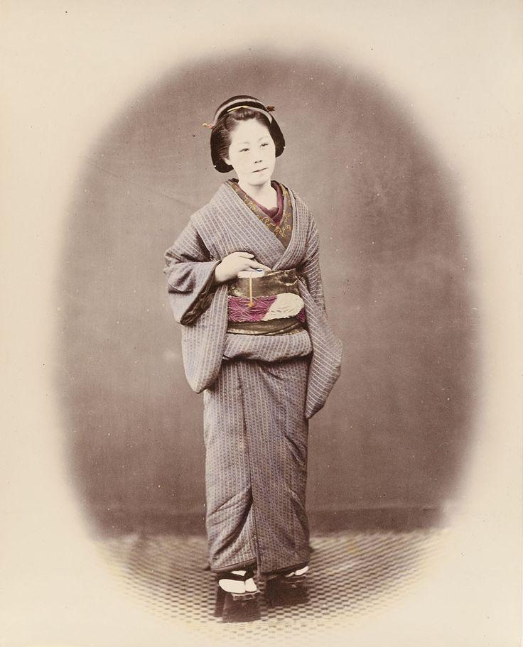 Japanerin | Felice Beato | um 1868 | Museum Für Kunst Und Gewerbe Hamburg | CC0