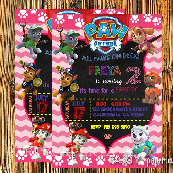 A personal favorite from my Etsy shop https://www.etsy.com/listing/247173253/paw-patrol-invitation-paw-patrol
