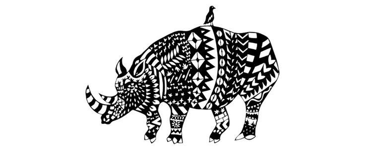 Rhino original paper cut by Paper Chap.