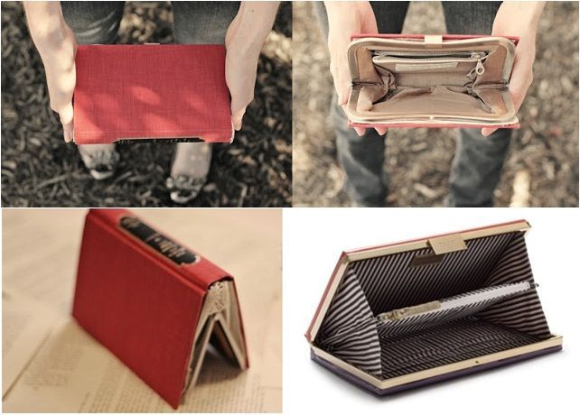 diy clutch purse   DIY book cover clutch and bag - The perfect gift idea for book lovers