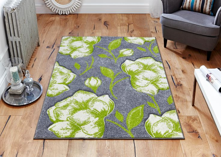Its time to uplift your decor with this stunning Viva floral rug _ Stylish & Trendy. #greenrugs #greyrugs #floralrugs #largerugs #designerrugs