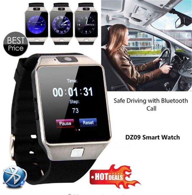 2016 nieuwe smart watch dz09 met camera bluetooth horloge sim-kaart Smartwatch Voor Ios Android-telefoons VS U8 A1 GT08 W90 Q18 A9