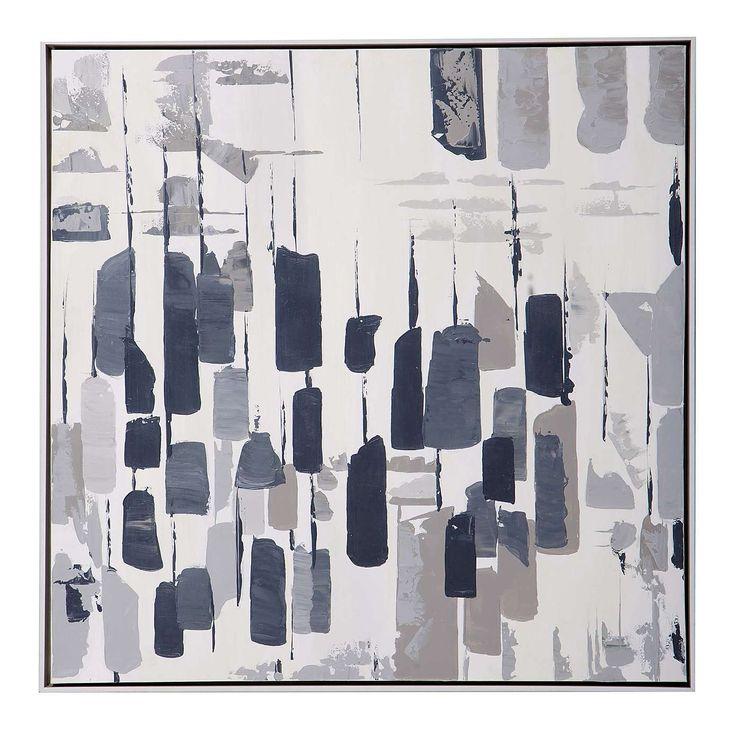 Grey Simplicity Abstract Canvas | Dunelm