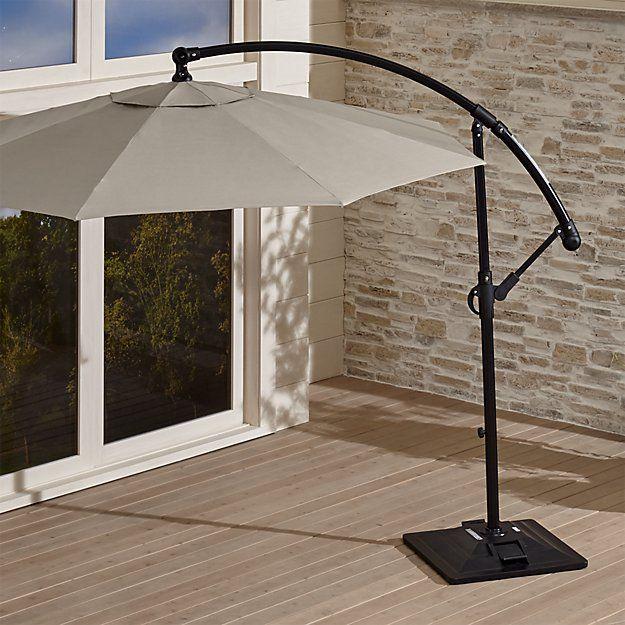 10' Round Sunbrella ® Stone Cantilever Patio Umbrella with Base