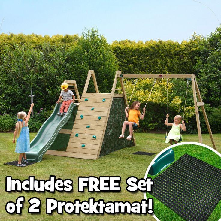 Plum Climbing Pyramid with Swings   FREE Protektamats | Plum Climbing Frames