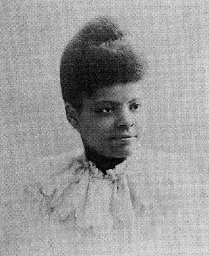 "She Would Not Be Silent, Ida B Wells  [b. 1862 - d. 1931]    Ida B Wells was in England in 1894 when she heard that white Southerners had put a black woman in San Antonio, Texas into a barrel with ""nails driven through the sides and then rolled [it] down a hill until she died.""  Women in Civil Rights movements. No acts of violence on her part, and no backing down."