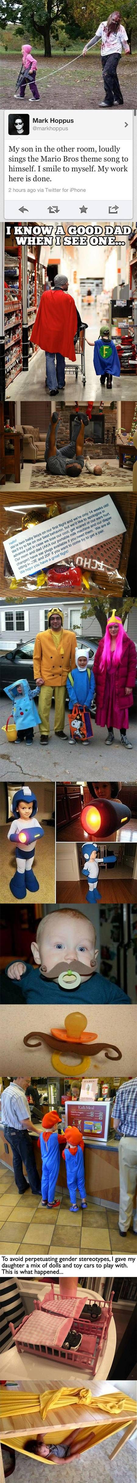 Here's a collection of twelve fun and creative examples of geeky parenting.