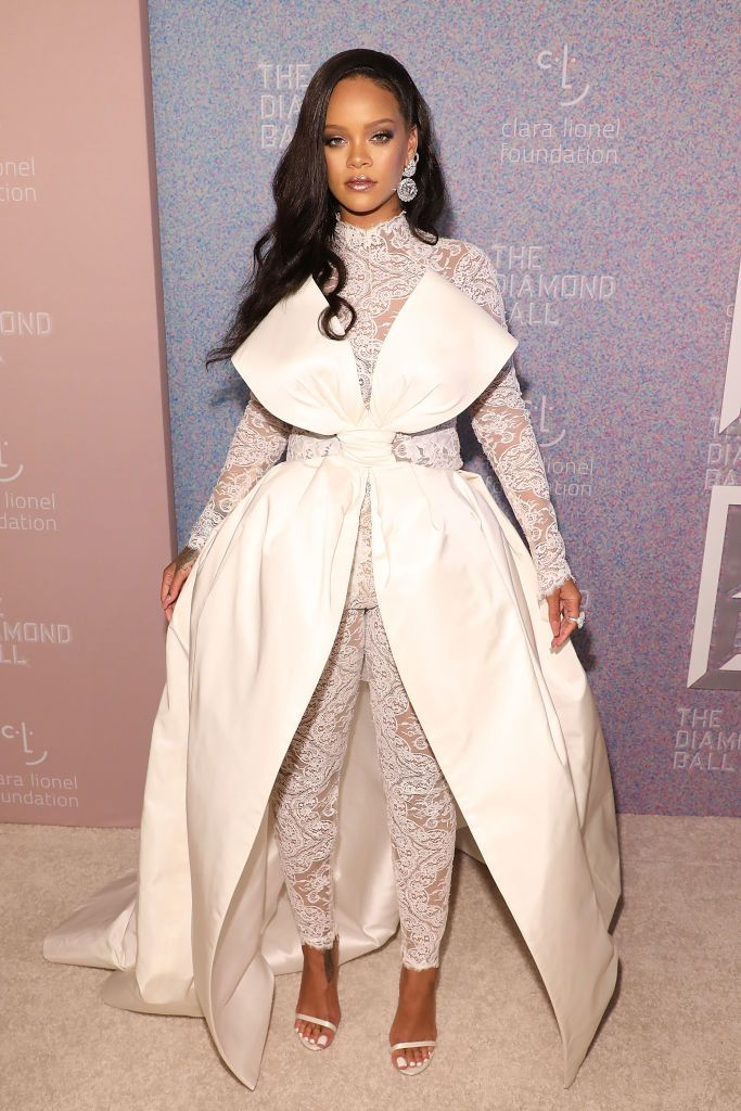 a6382f37065 Rihanna attends the 2018 Diamond Ball at Cipriani Wall Street on ...