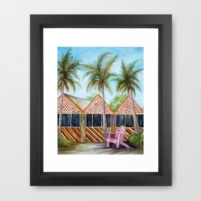 Mct Sanibel Island Framed Art Print By Rosie Brown 35