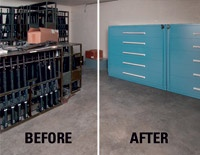 Before & After: Stanley Vidmar Military Weapons Storage keeps firearms organized and safely stored. http://www.stanleyvidmar.com/products/weapons-storage