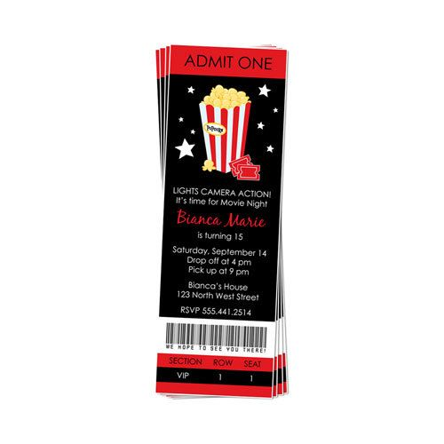 PRINTABLE Movie Night Party Invitation for 10 euros. Great invitations, gotta have a special invitation!