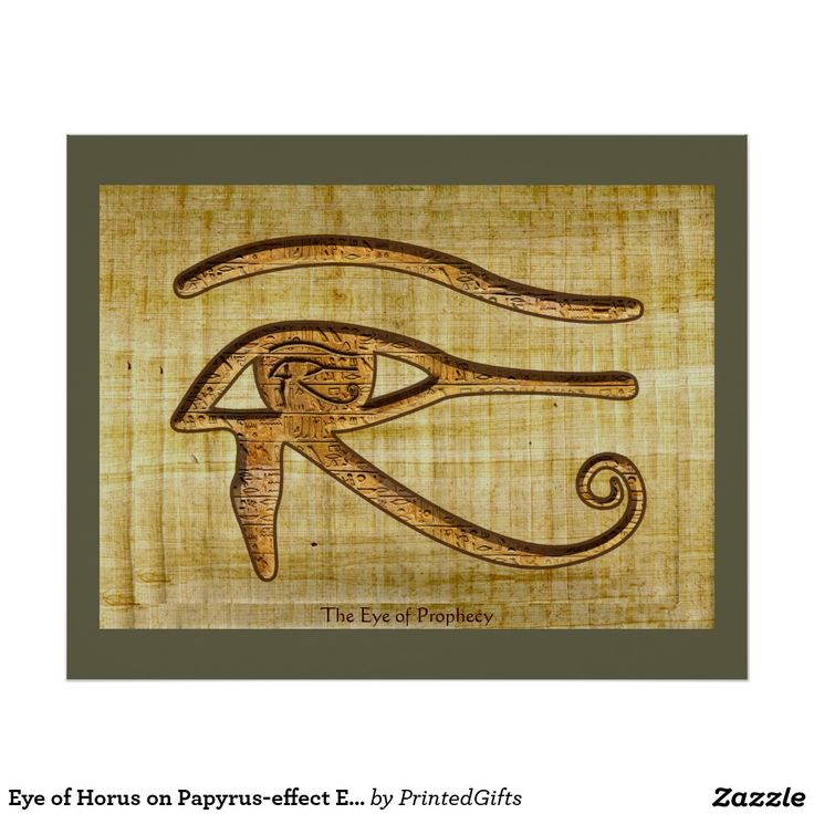 Eye of Horus on Papyrus-effect Egyptian Art Print