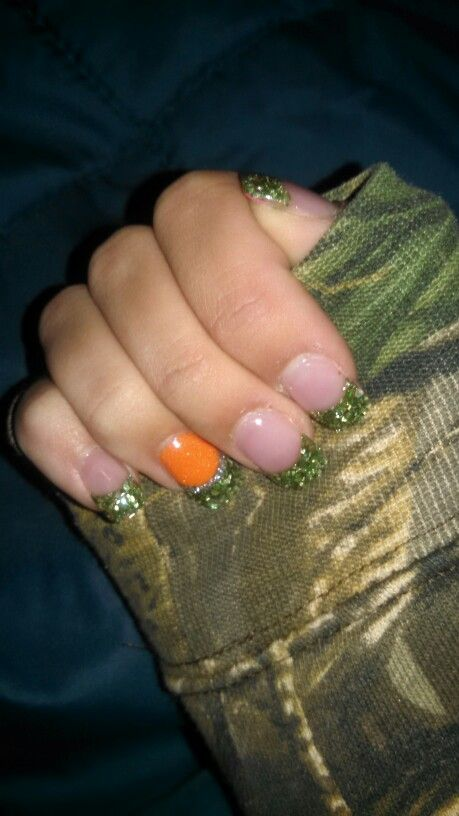 Camo acrylic nails #mine