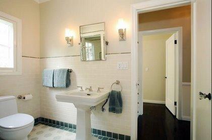 Image detail for -bathrooms - Farrow  Ball - Dimity - Vintage bathroom Ann Sacks tiles ...