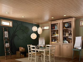 Love This Idea For The Basement Bamboo On The Ceiling