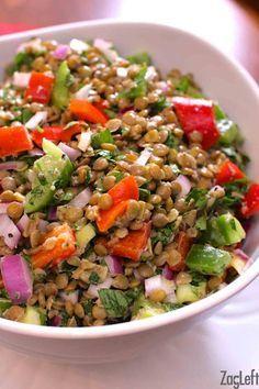 ... Lentil Salad on Pinterest | Green Lentils, French Green Lentils and