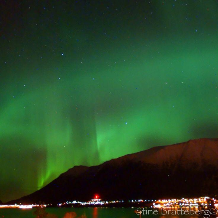 Aurora over Ørsta, Norway. Photo by Stine Bratteberg