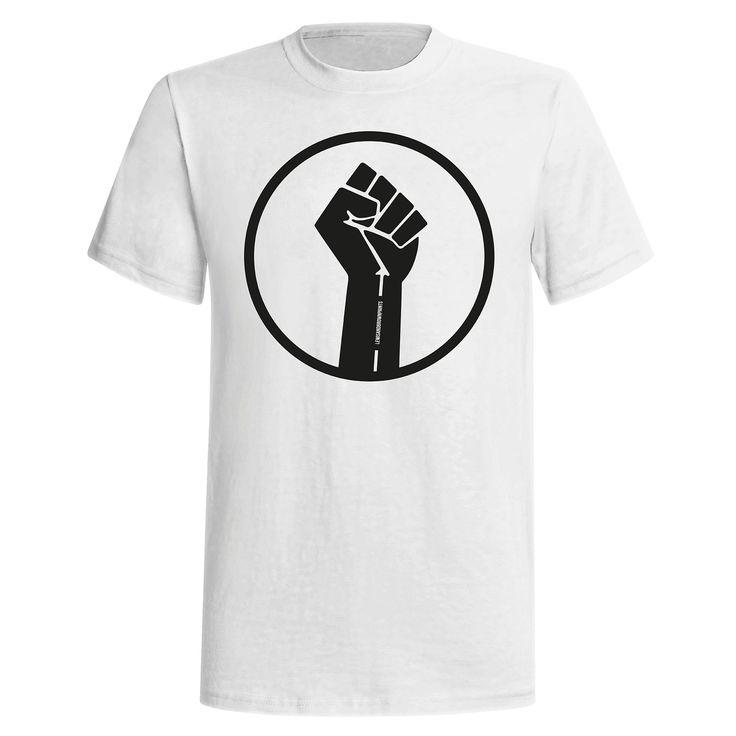 Black Power - White with Black Print